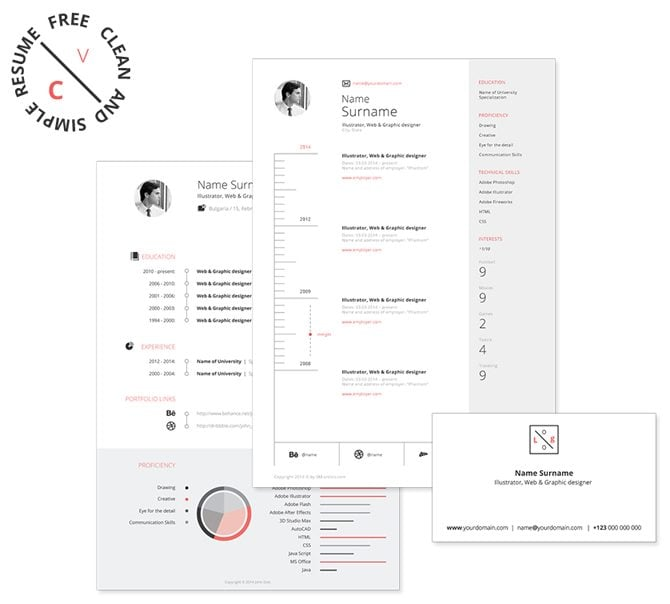 Creative Free Printable Resume Templates  Printable Resume