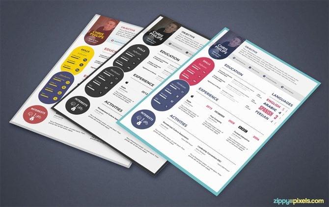 creative free printable resume templates - Resume Templates Psd Free