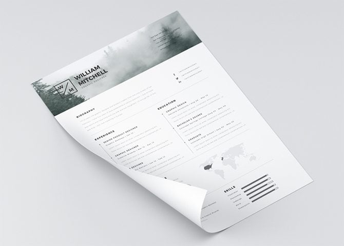 Creative Free Printable Resume Templates  Clean Resume Templates