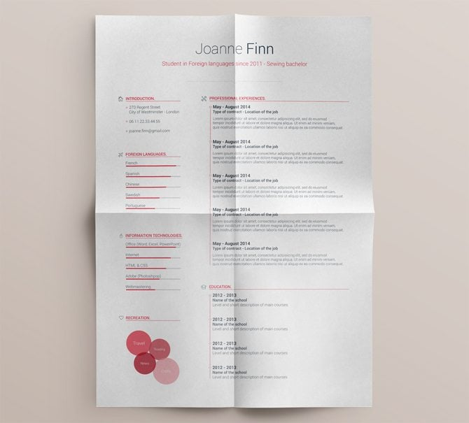creative free printable resume templates - Free Resume Templates Printable