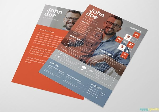 graphic designer cv template ai resume word format free download design templates creative printable