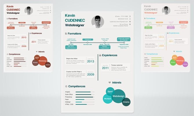 creative free printable resume templates - Graphic Resumes Templates