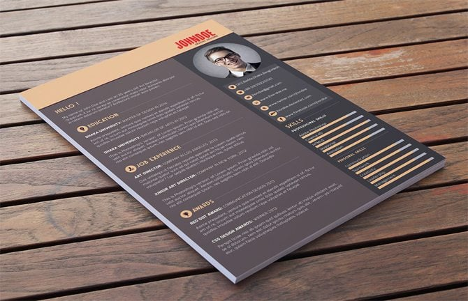 40 best 2018s creative resumecv templates printable doc creative free printable resume templates yelopaper Gallery