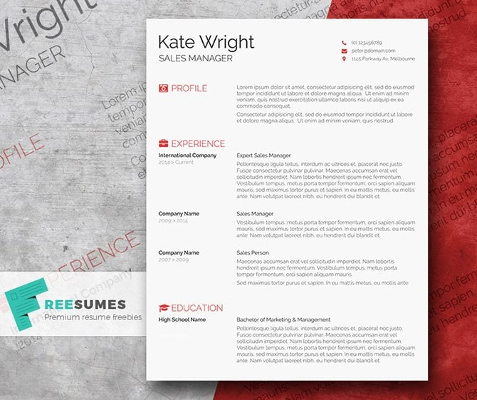The Next Resume Freebie Has A Minimalist Yet Content Rich Design. It Will  Help You Reveal Your Candidacy In Full To Employees. The Template Is  Available In ...  Resume Templates Doc