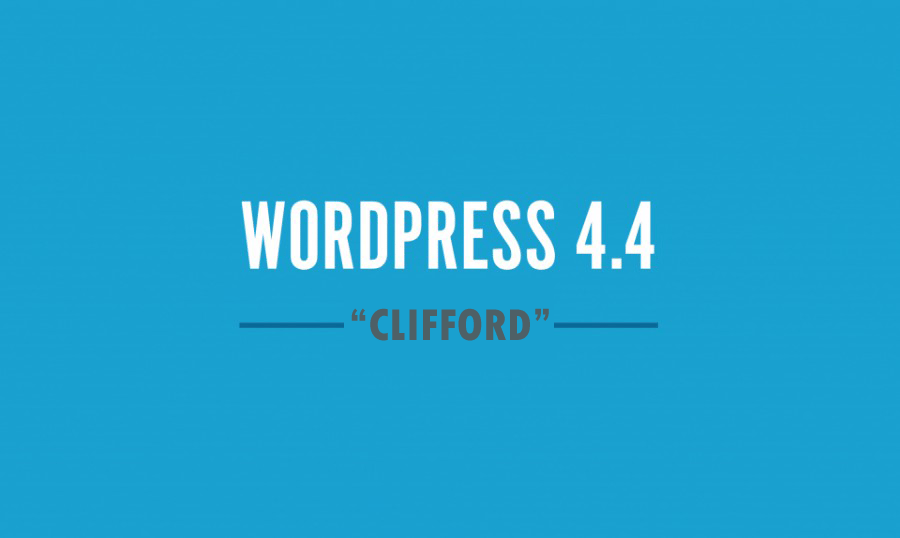 WordPress 4.4 Clifford