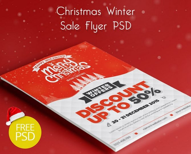 30 Free Christmas and New Year PSD Flyers for Promos