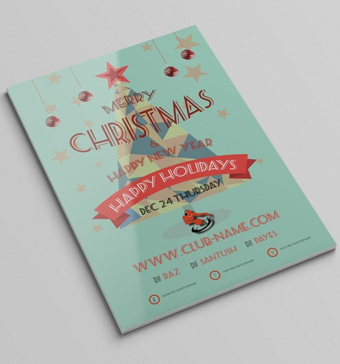 free christmas templates for flyers