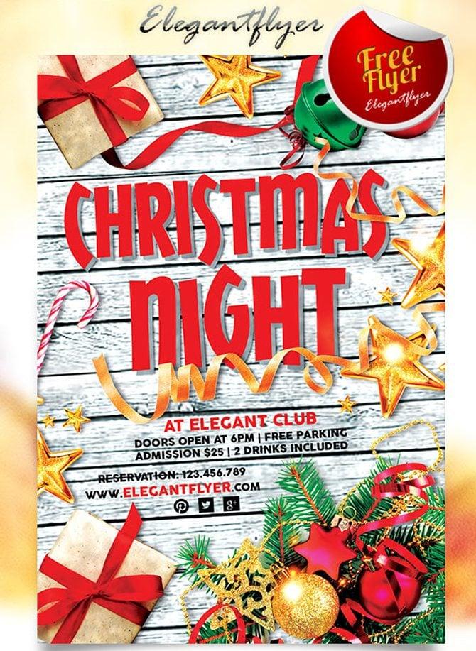 free christmas party flyer template