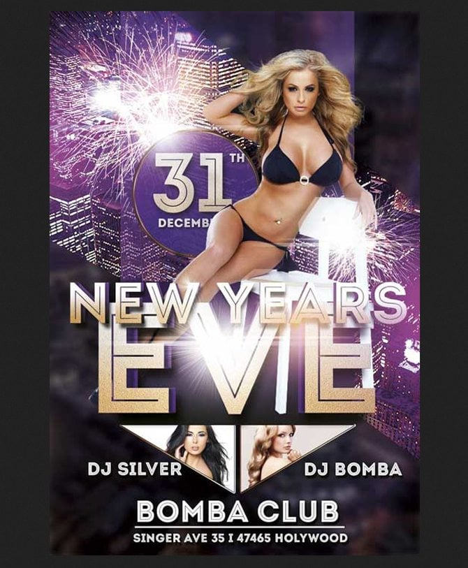 30 Free Christmas and New Year PSD Flyers for Promos – Free New Years Eve Flyer Template