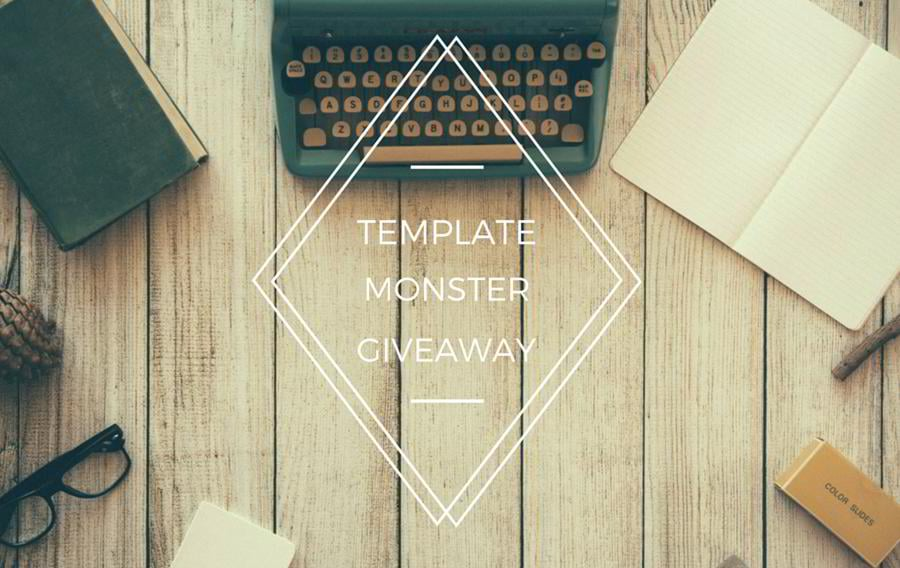 templatemonster giveaway get one of the three prizes
