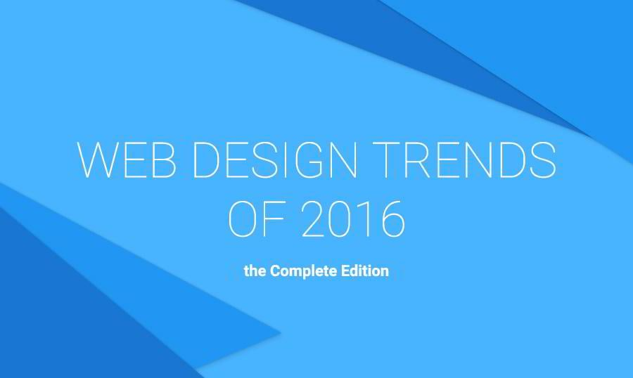 65 Web Design Trends of 2016 – Complete Edition