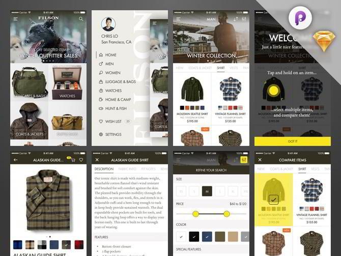Free Fetching Sketch App Ui Kits Choose Use Monsterpost