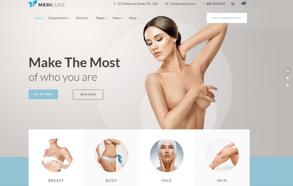 MediLuxe - Plastic Surgery WordPress Theme
