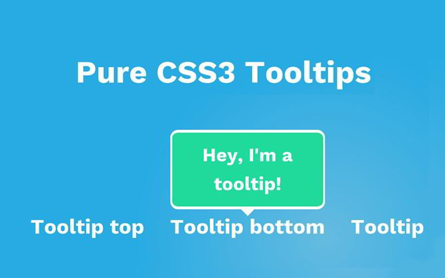 how to create tooltips in html