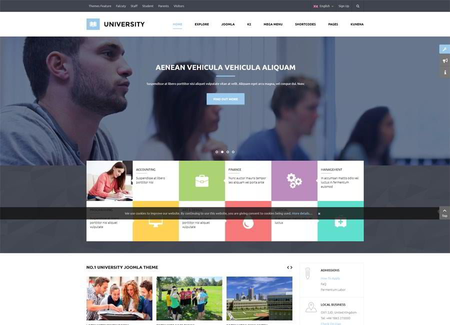 Sj University Ii Is A Responsive Joomla Template Specially Designed For School And Education Related Websites With K2 Kunena Intergraded To Bring You