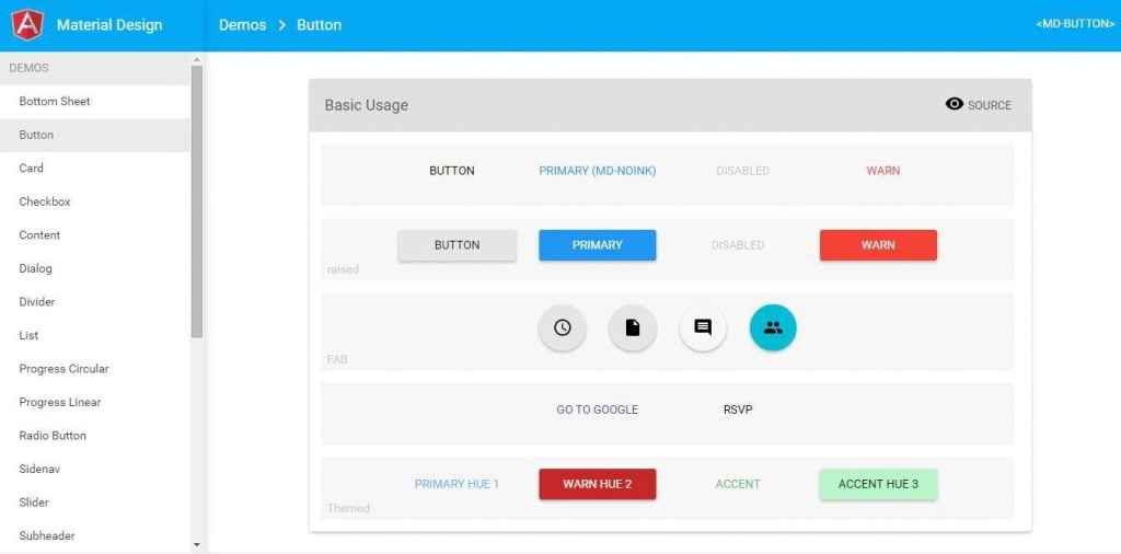 Angularjs Material Design Template Free