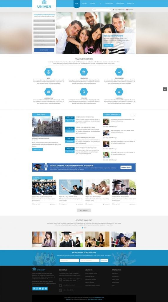 professional websites for students