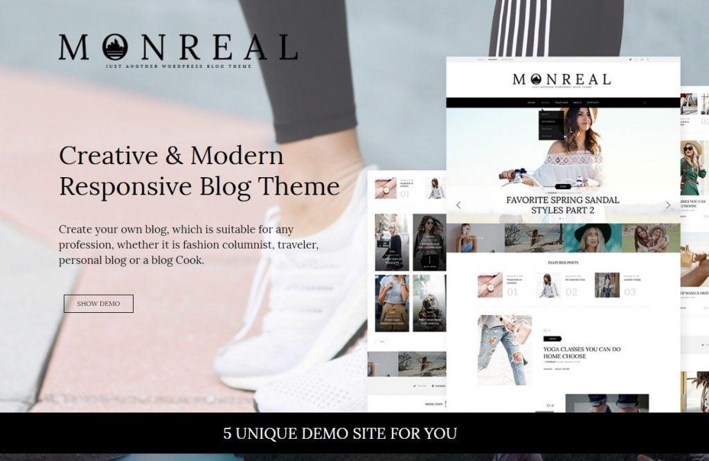 Monreal - Fashion Blog WordPress Theme