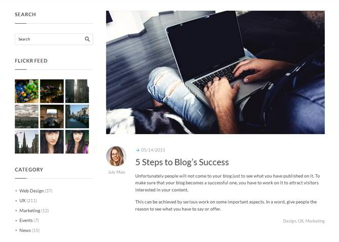 Html Blog Templates | Intense Multipurpose Html Template With Zillion Pages Monsterpost
