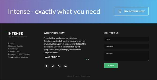 footer templates