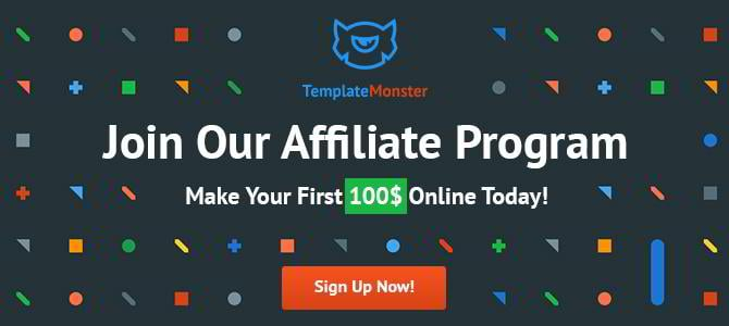 join the affiliate program by templatemonster