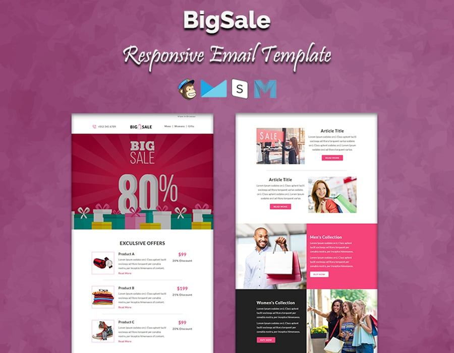 Best Promotion Email Templates For Your Business - Promotional mailer template