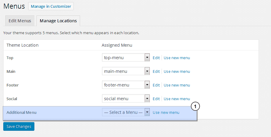 add navigation menu wordpress