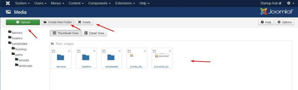 how to make a new website in joomla