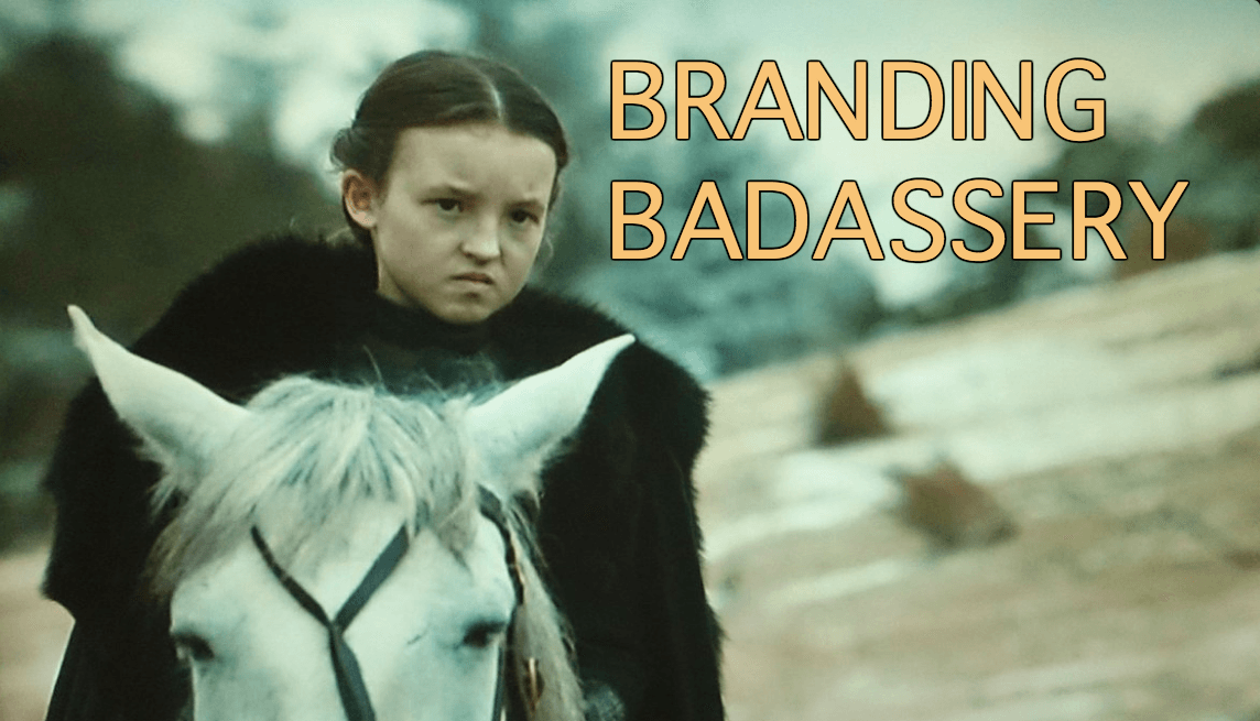Lyanna Mormont from Game of Thrones looking badass AF