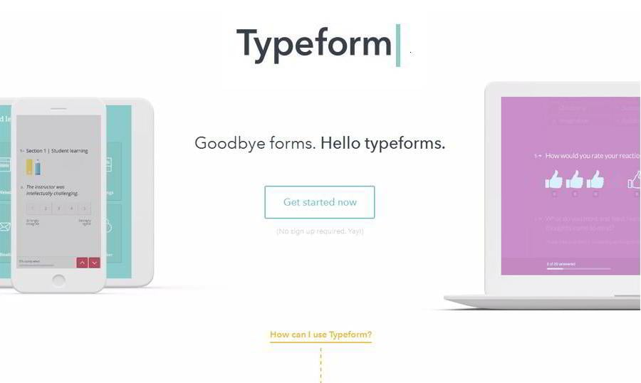 Typeform Web Form Builder Question Your Customers Inside Out