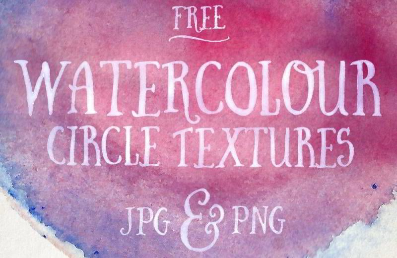 25 Free Watercolour Circle Textures in JPG & PNG