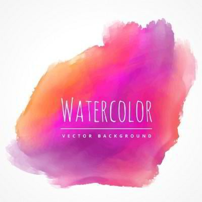 red and purple watercolor stain vector