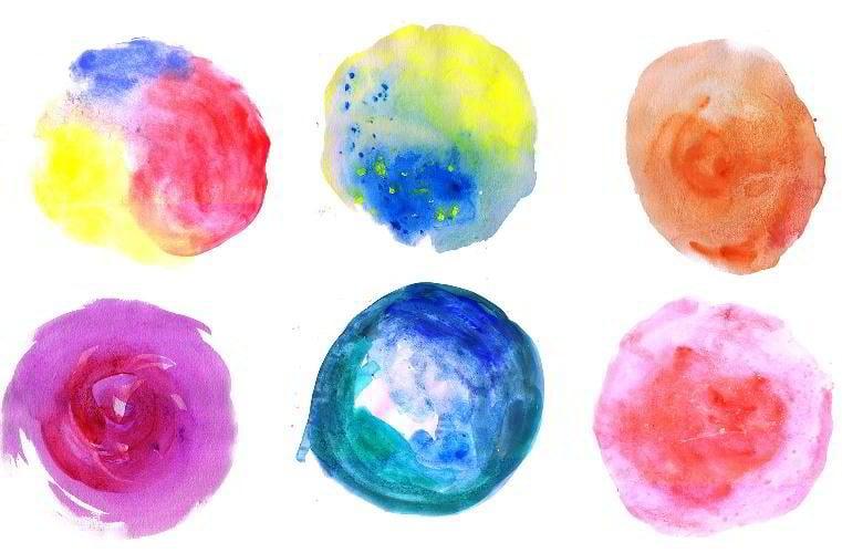 10 Watercolor Circle Textures