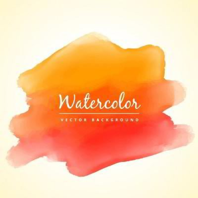 watercolor red and orange background
