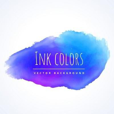 watercolor blue background