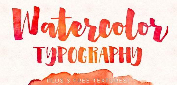 Watercolor Typography 3 Free Textures