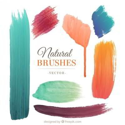 free watercolor vector brushes