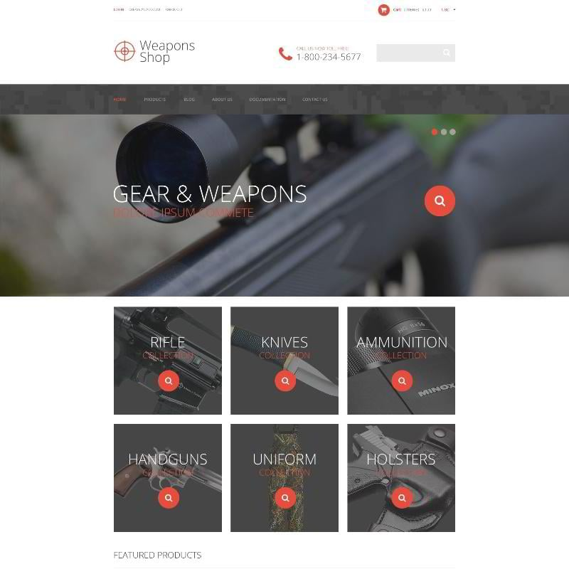 Weapon Shop Shopify Theme