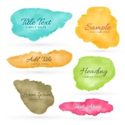 colorful aquarelle backgrounds