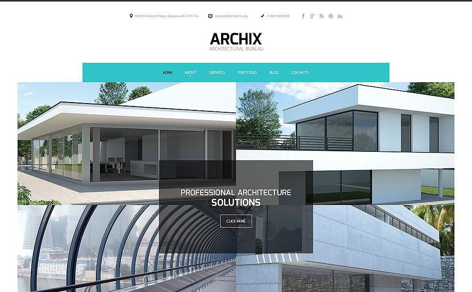20 premium architecture html5 templates for Architectural websites