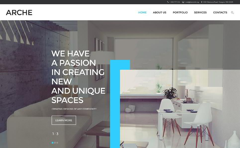 Arche Is A Website Template For Architecture, Interior, Exterior Design, Or  Web Design Websites. It Is Possible To Make Any Changes You Like To The  Design.