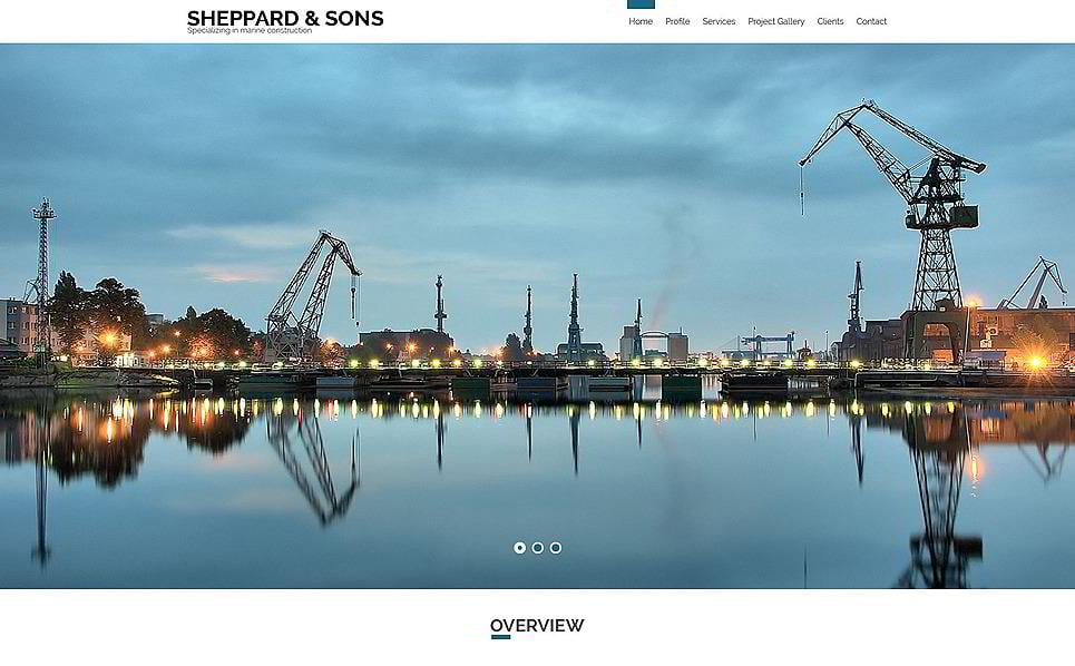 sheppard sons is a great marine construction website theme you may also use it as a construction company website template feel free to present your