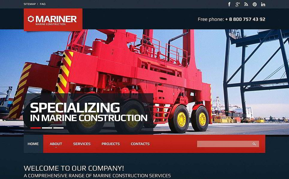 need a juggernaut industrial website theme for your construction company well here it is mariner is just a perfect example feel free to use it for a