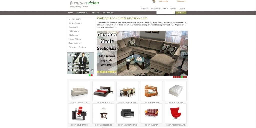 Design Battle LA Furniture Websites vs TemplateMonsters