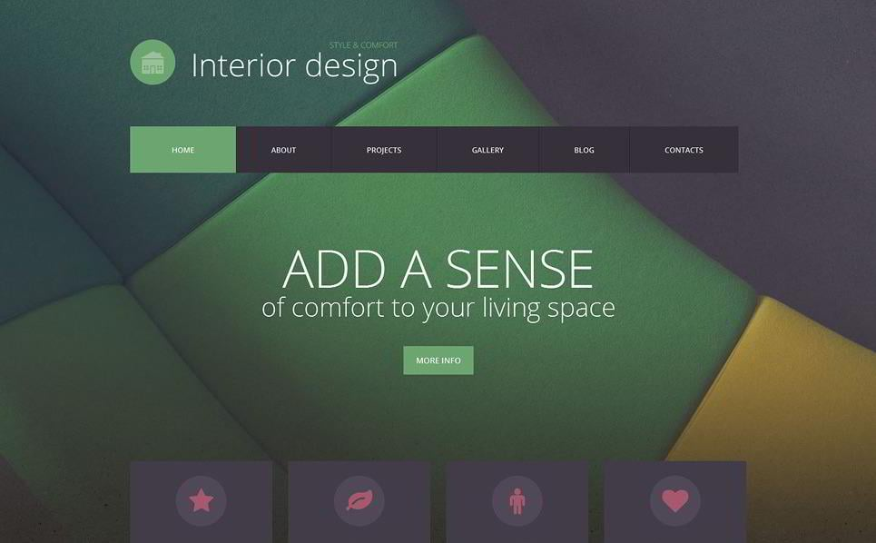 Interior Design Is A Minimalist WordPress Theme For Web Projects Its Looks Like An Interesting Solution Thanks To The Parallax