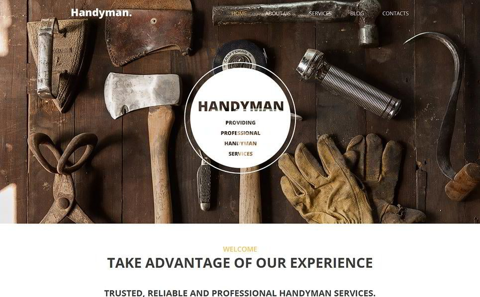 Handyman Is An Interior WordPress Design Themes That You Canu0027t Pass By! Its  Rustic Design And Modern Structure Look Professional And Attractive.