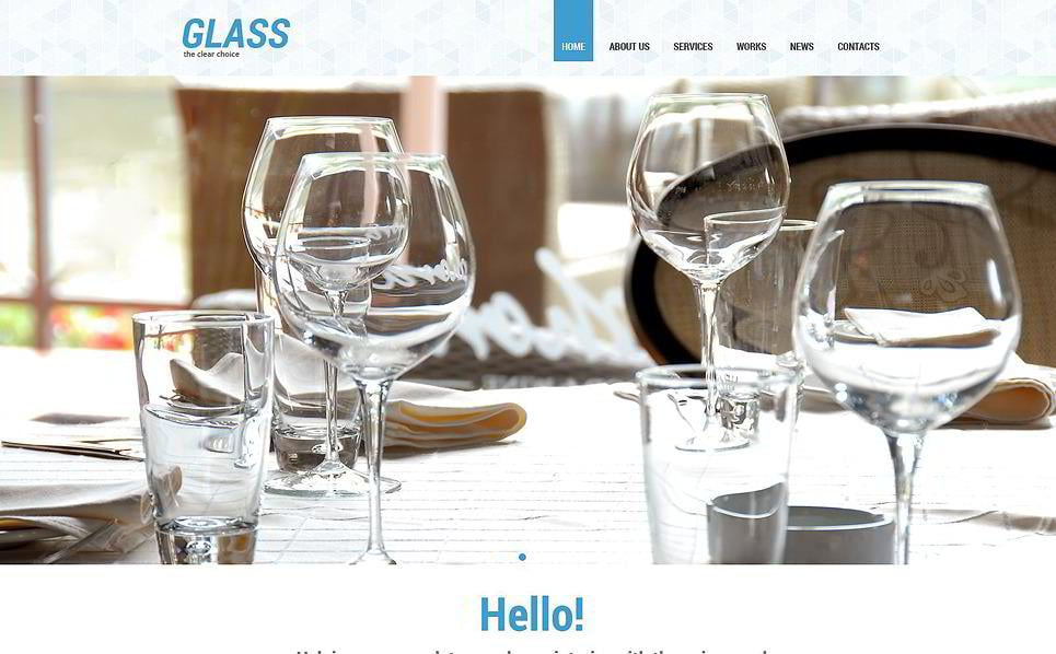 Dishes Is A Bright Interior Furniture WordPress Template You May Use It For Design Or Tableware Business Website Animated Elements Spice Up The