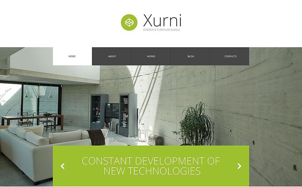 Xurni Is A Hi Tech Interior Design WordPress Theme You May Use It For Furniture Website Or Any Other Type Of Business