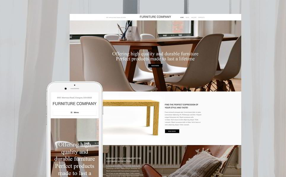 Furniture Company Is A WordPress Design Theme To Set Up A Perfect Interior  Design Website. Feel Free To Use This One If You Have A Furniture Shop Or  An ...