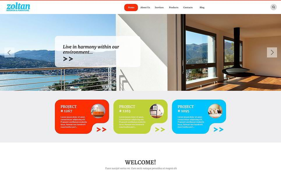 Zoltan Is An Interior Furniture WordPress Theme That Will Make People Pay Attention Its Colorful Banners Are Just Perfect To Showcase The Design